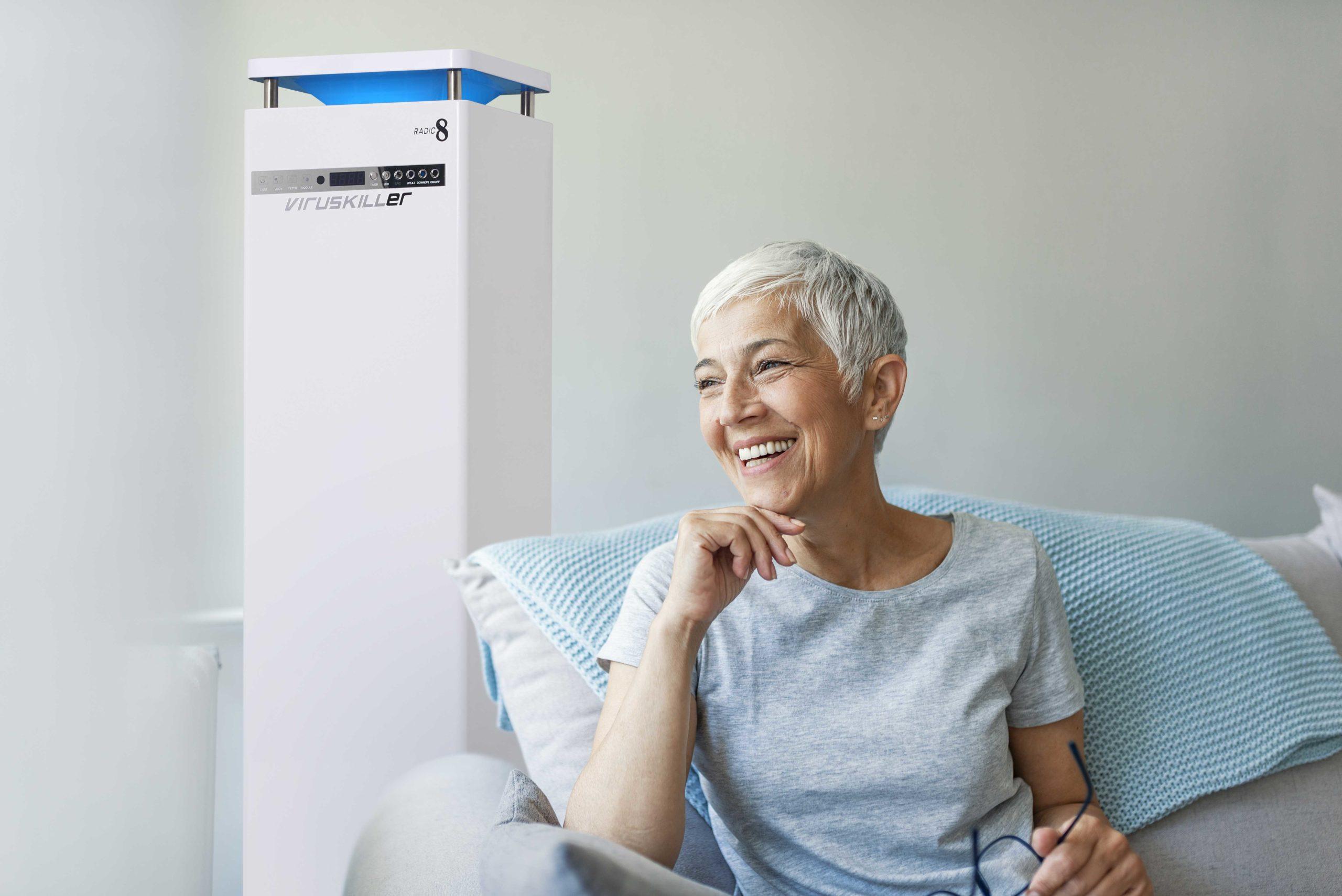 old woman nursing homes indoor air quality VIRUSKILLER