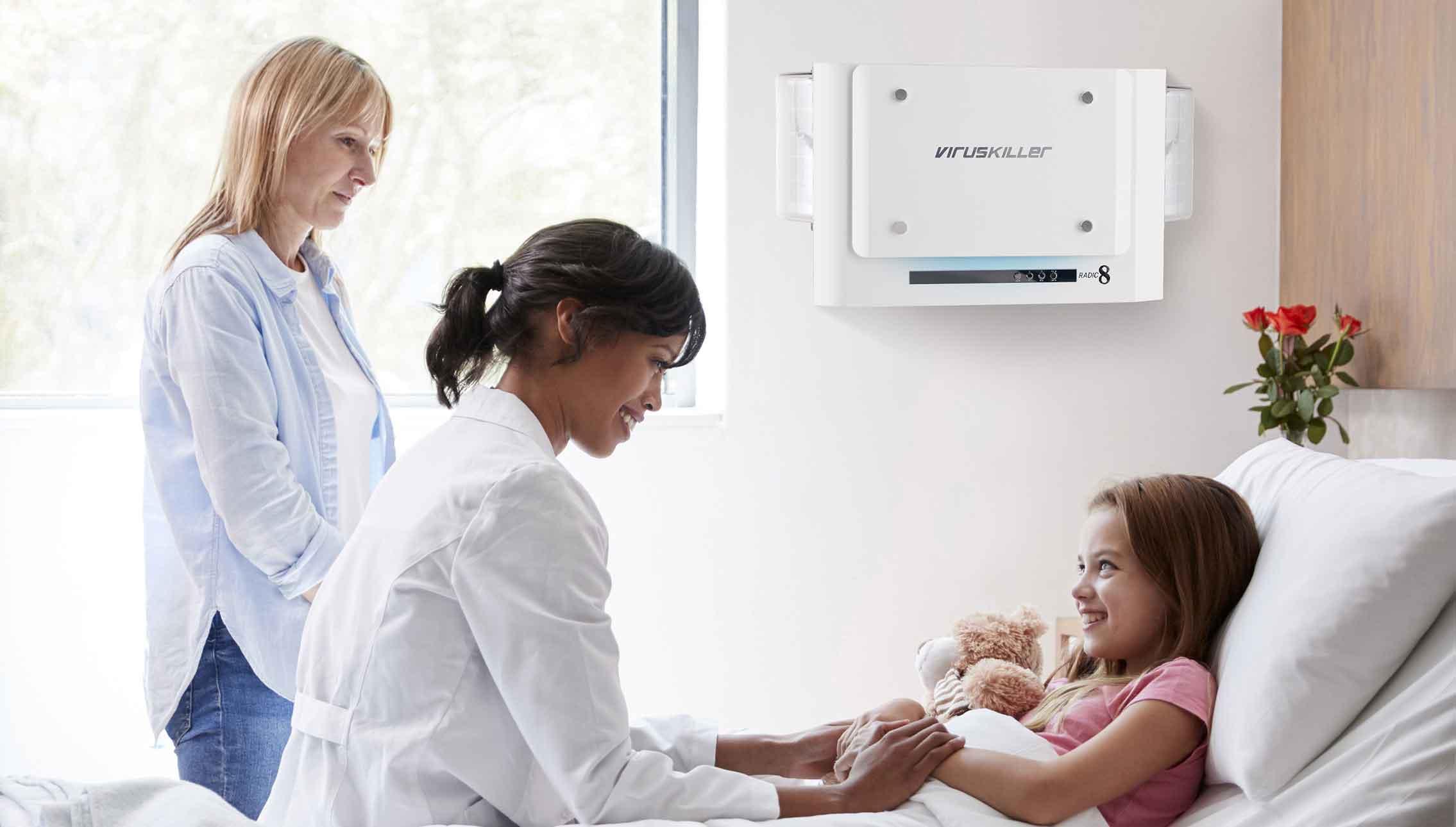 Radic8 indoor air quality in hospitals